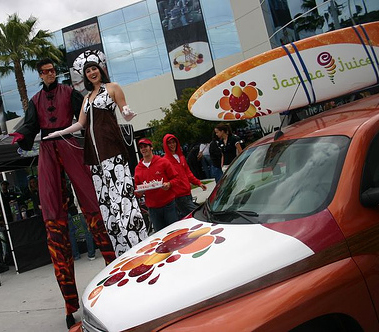 jamba juice stilt walkers